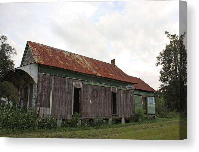 Vintage Canvas Print featuring the photograph Country Store by Paula Coley