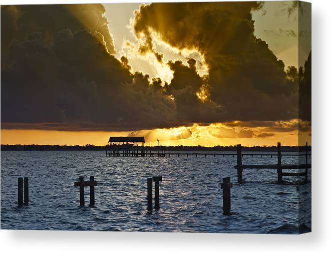 Bay Canvas Print featuring the photograph Courtship by Janet Fikar