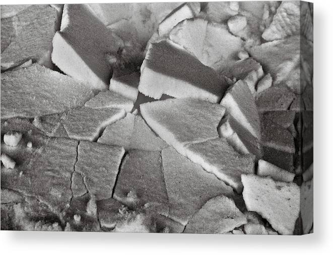 Ice Canvas Print featuring the photograph Cracked Up by Jason Wolters