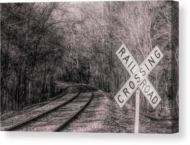 Canvas Print featuring the photograph Crossing by Craig Applegarth