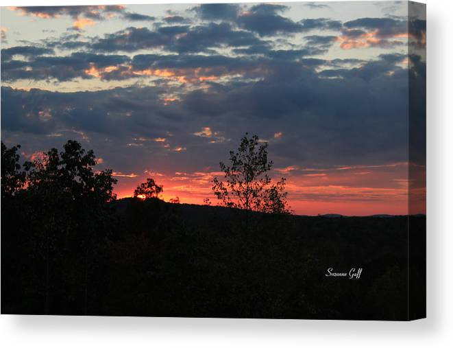 Sunset Canvas Print featuring the photograph Day Is Done by Suzanne Gaff