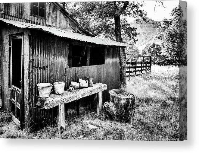 B&w Canvas Print featuring the photograph Days Gone By by Jack Sassard