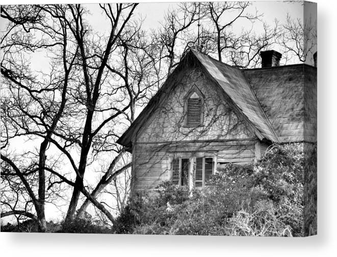 Architectural Canvas Print featuring the photograph Days Gone By by Jan Amiss Photography