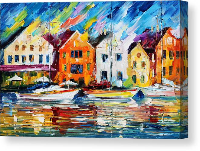 Afremov Canvas Print featuring the painting Denmark by Leonid Afremov