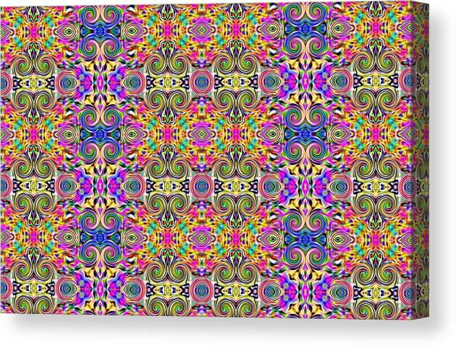 Abstract Digital Art Canvas Print featuring the photograph Digital Future by Guillermo Mason