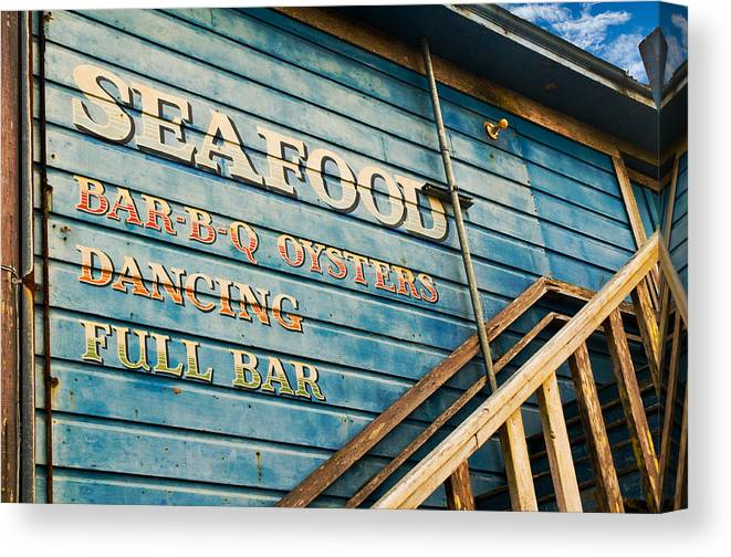 Sign Canvas Print featuring the photograph Dining And Dancing by Mick Burkey