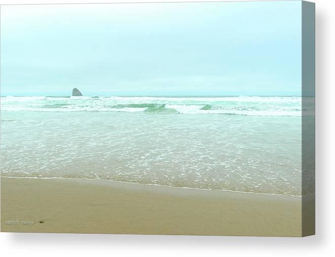 Oregon Coast Canvas Print featuring the photograph Distant Seastack, Oregon Coast by Aashish Vaidya
