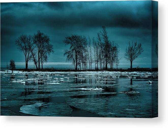 Lake Huron Canvas Print featuring the photograph Distorted Reflections by Kristin Hunt