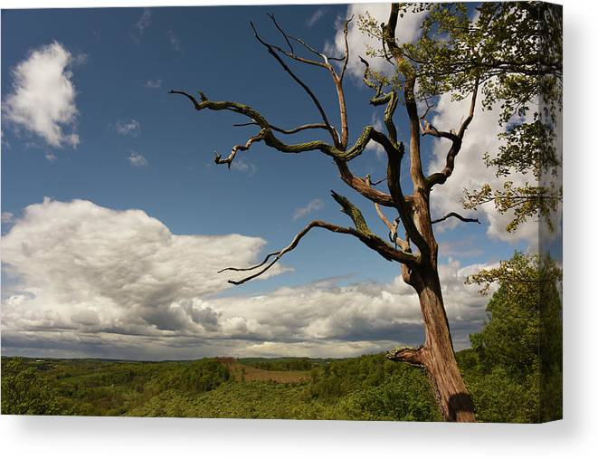 Lehigh Canvas Print featuring the photograph Dramatic Overlook by Jennifer Ancker