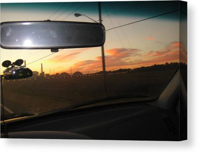 Sunset Canvas Print featuring the photograph Driving Red Clouds....... by WaLdEmAr BoRrErO