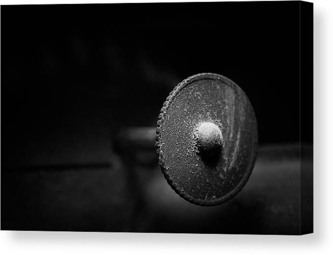 Lamp Canvas Print featuring the photograph Early American Dimmer Switch by Tom Mc Nemar