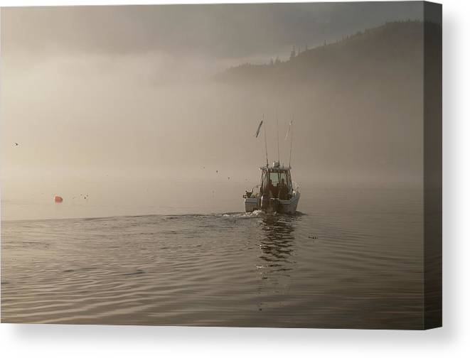 Places Canvas Print featuring the photograph Early Morning Fishing Boat by Chad Davis