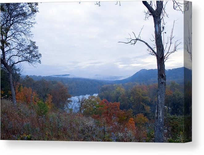 Landscape Canvas Print featuring the photograph Early Morning White River by David Waldrop
