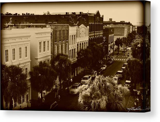 east Bay Street Canvas Print featuring the photograph East Bay Street by Melissa Wyatt