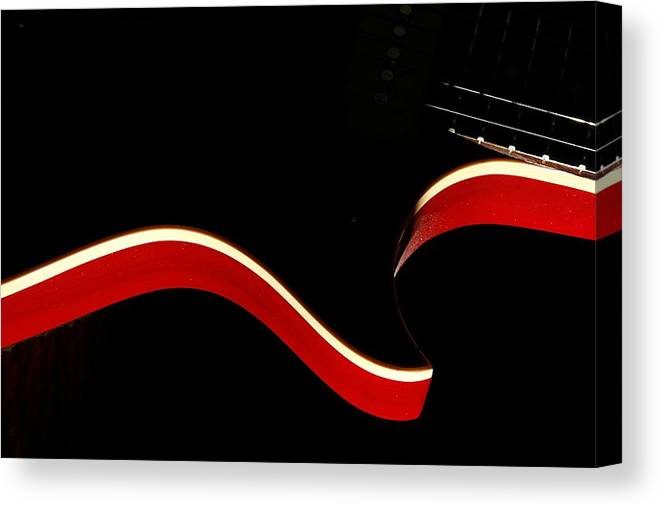 Guitar Canvas Print featuring the photograph Ed's Red 1 by Art Ferrier