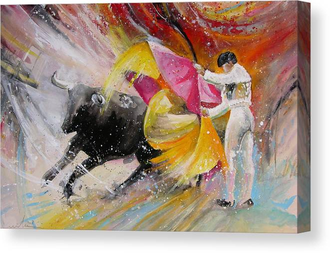 Animals Canvas Print featuring the painting Elegance by Miki De Goodaboom