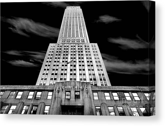 Empire State Building Canvas Print featuring the photograph Empire State  by Az Jackson