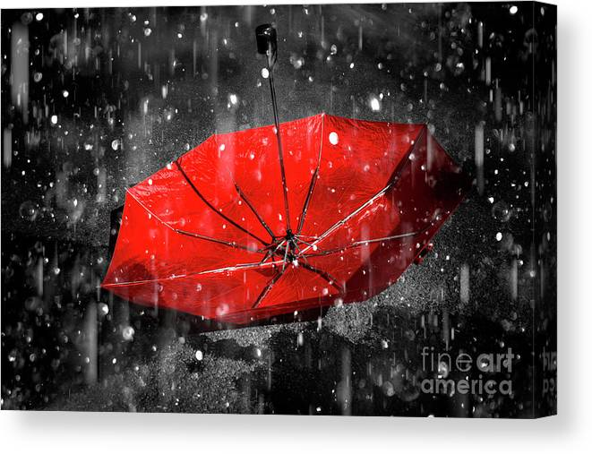 Red Canvas Print featuring the photograph Epiphany by Jorgo Photography - Wall Art Gallery