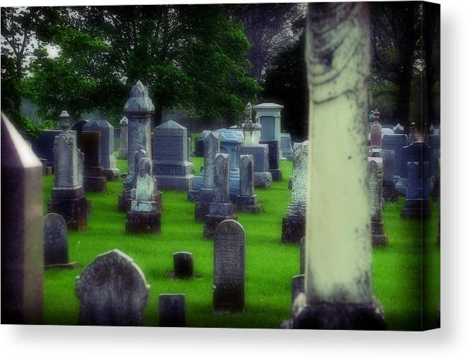Cemetery Canvas Print featuring the photograph Ethereality by Carl Perry