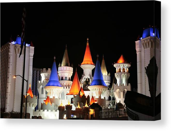Vegas Canvas Print featuring the photograph Excalibur by Rich Tanguay