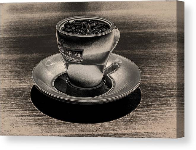 Cafe Canvas Print featuring the photograph Expresso.piccolo.argenteo by Robert Litewka