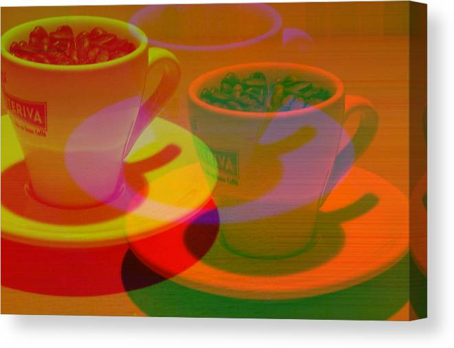 Cafe Canvas Print featuring the photograph Expresso.piccolo.offset by Robert Litewka