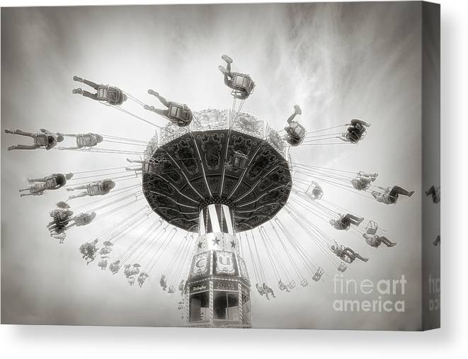 People Canvas Print featuring the photograph Fair Swing Ride by Linda D Lester