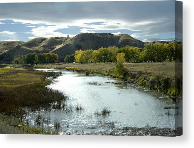 Birds Canvas Print featuring the photograph Fall In The River Bottom by Tom Buchanan