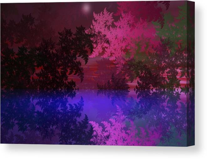 Abstract Digital Painting Canvas Print featuring the digital art Fantasy Landscape by David Lane