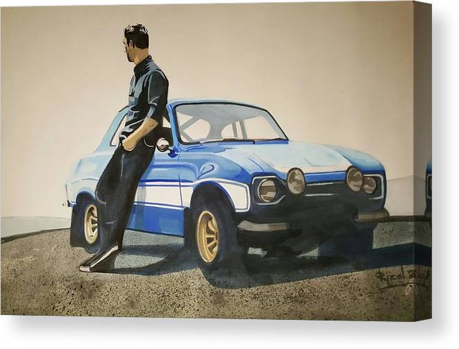 Fast And Furious Canvas Print featuring the painting Fast And Furious by dreamArts7