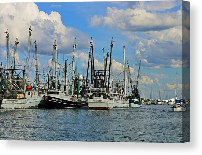 Ships Canvas Print featuring the photograph Feel The Groove by Michiale Schneider