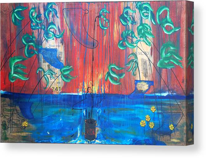 Fin Canvas Print featuring the painting Find One Memory See Imperfection by Nathan Paul Gibbs