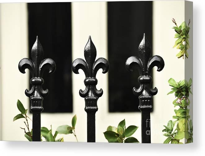 New Orleans Canvas Print featuring the photograph Fleur Di Lis Trio by Frances Ann Hattier
