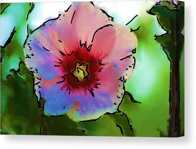 Landscape Canvas Print featuring the photograph Flower 8-15-09 by David Lane