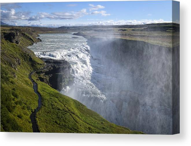 Iceland Canvas Print featuring the photograph Follow Life's Path by Lucinda Walter