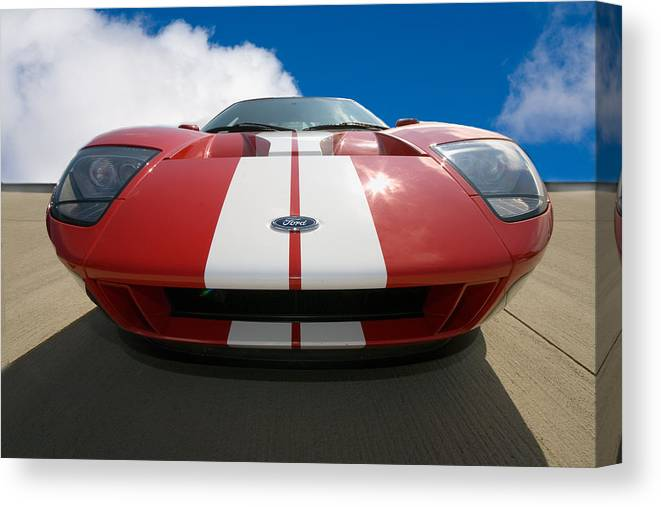 Automotive Canvas Print featuring the photograph Ford Gt by Peter Tellone