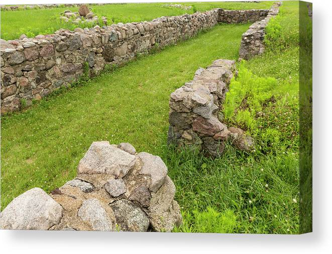 Fort Canvas Print featuring the photograph Fort Ridgely Remains 2 by John Brueske
