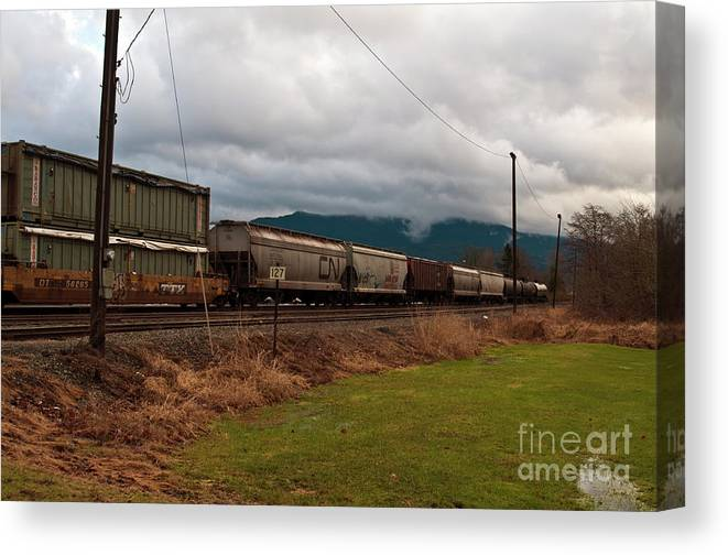 Clay Canvas Print featuring the photograph Freight Rain by Clayton Bruster