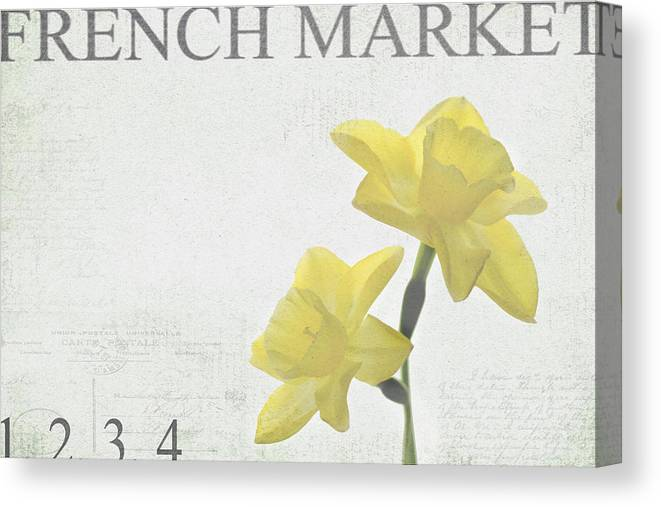 Market Canvas Print featuring the photograph French Market Series B by Rebecca Cozart