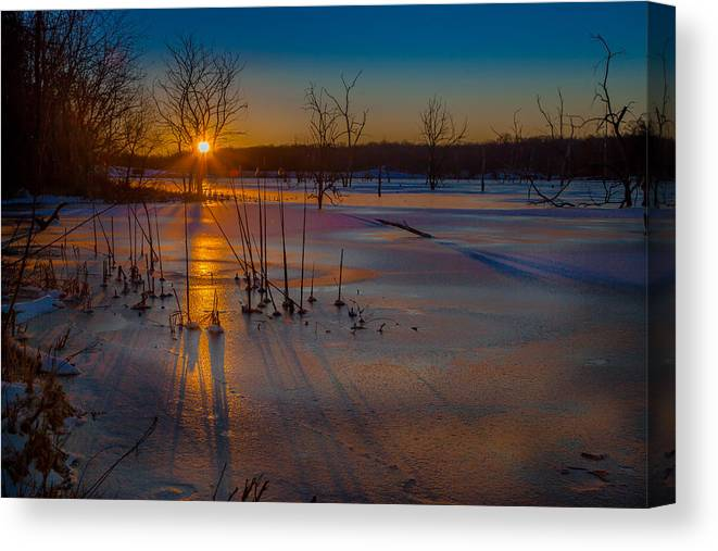 Frozen Canvas Print featuring the photograph Frozen New Year by Scott McKay