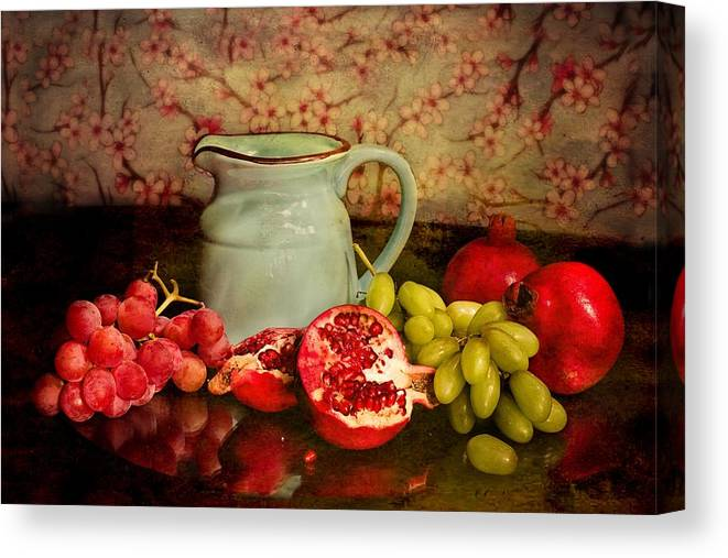 Fruit Canvas Print featuring the photograph Fruit And Pitcher by Carlene Smith