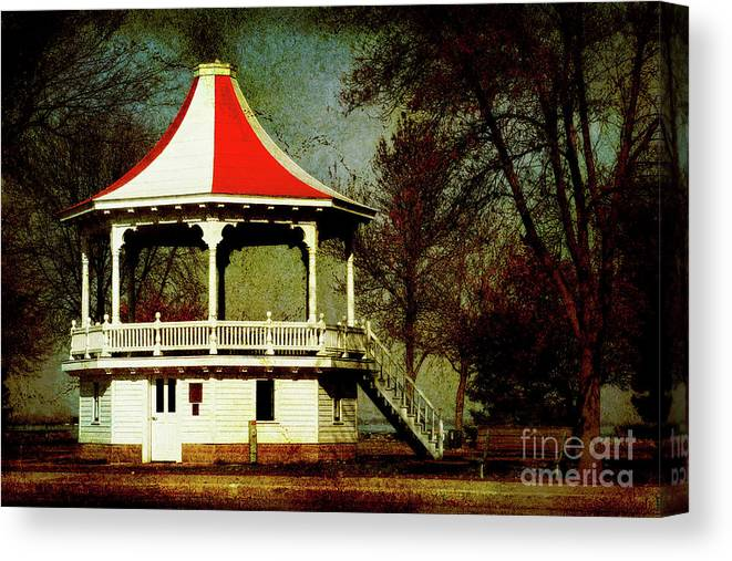 Gazeebo Canvas Print featuring the photograph Gazeebo by Joel Witmeyer