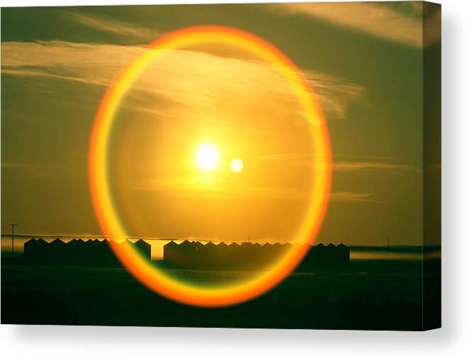 Sun Canvas Print featuring the photograph Geraldine Orange by Todd Klassy