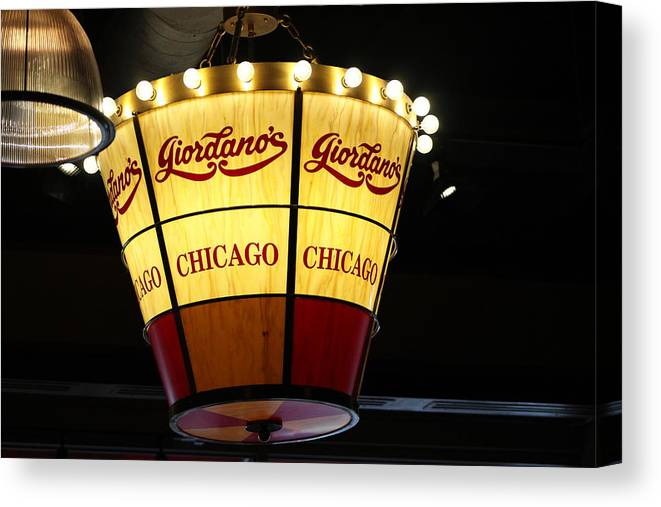 Giordano's Chicago Pizza Chandelier Canvas Print