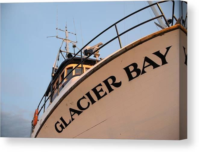 Fishing Canvas Print featuring the photograph Glacier Bay by Alasdair Turner