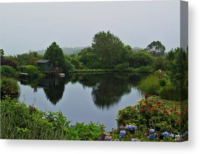 Lanscape Canvas Print featuring the photograph Glenwhan Gardens by Ian Baxter