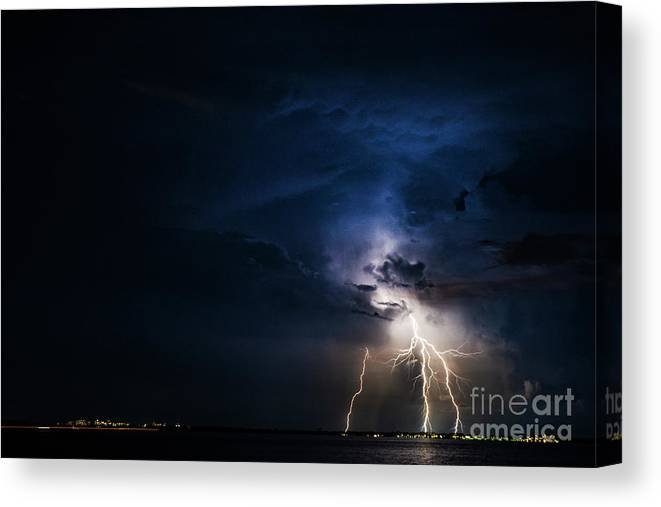Canvas Print featuring the photograph God's Tripod by Christopher Specht