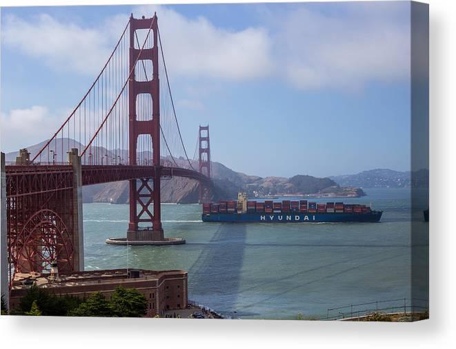 Golden Gate Bridge Canvas Print featuring the photograph Golden Gate Bridge by Ashlyn Gehrett