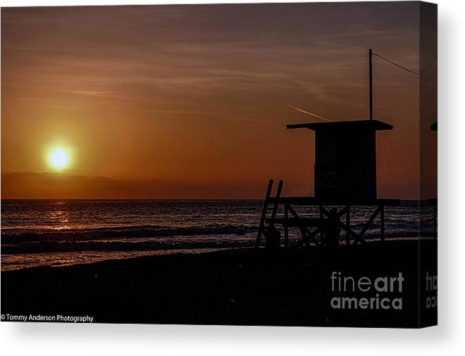 Newport Beach Canvas Print featuring the photograph Good Night Newport Beach by Tommy Anderson