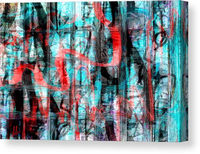 Graffiti Art Canvas Print featuring the digital art Graffiti by Linda Sannuti